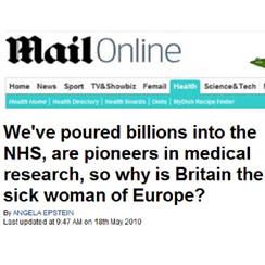 Daily Mail: Britain the Sick Woman of Europe?
